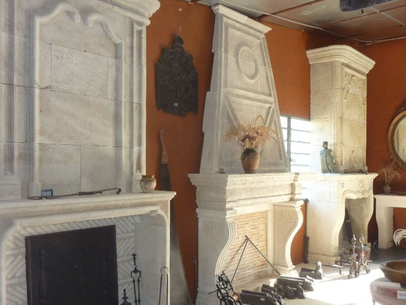 Mantels with trumeau in stone