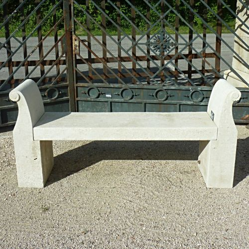 Stone bench - Garden furniture in natural limestone