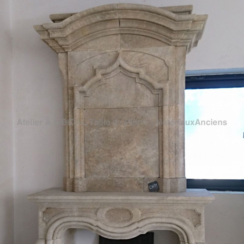 Louis XVth stone fireplace - decorative element for the house.