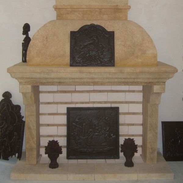 Natural stone for this provence fireplace