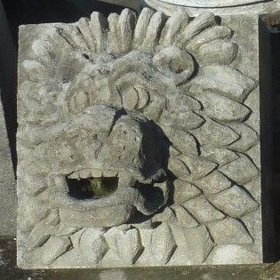 Lion Sculpture in stone ( Mask)