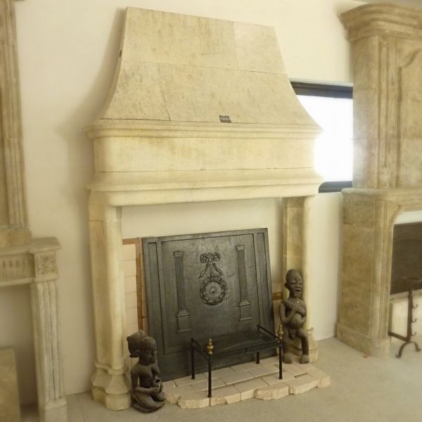 Gothic fireplace, crafted work in stone carving.
