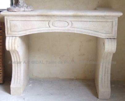 fireplace in stone, Trasition Style