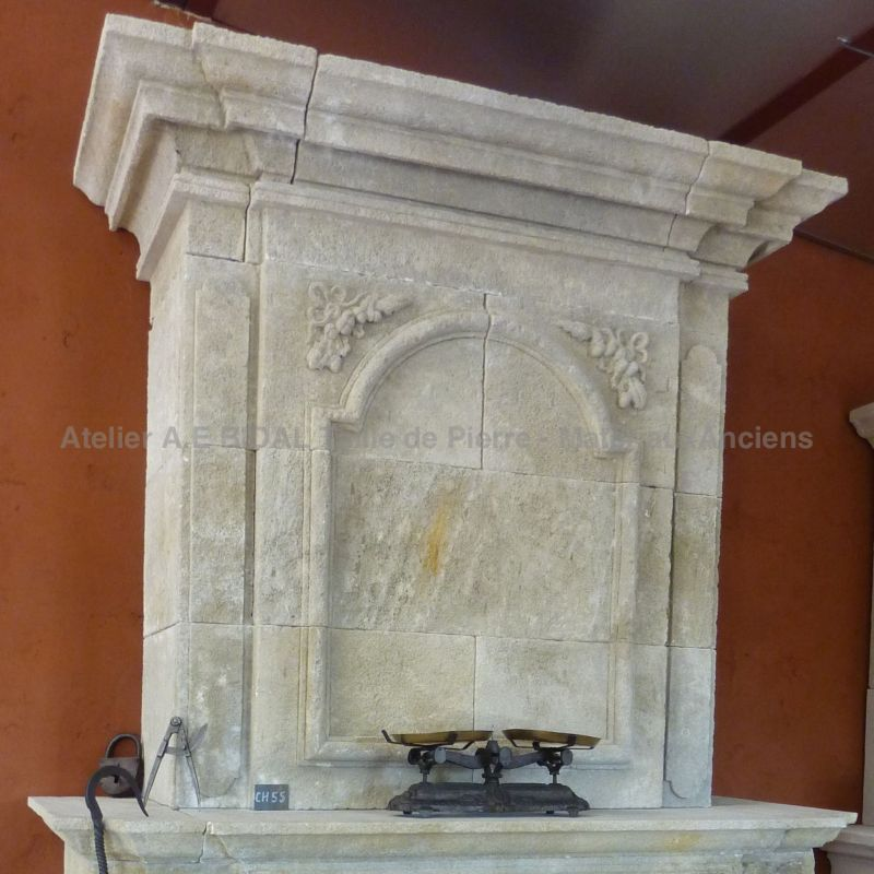 Old fashon fireplace in Louis XIV style