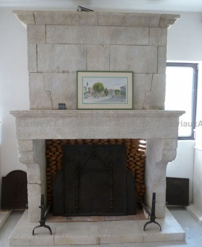 Old fashion fireplace, a very popular choice in Provence