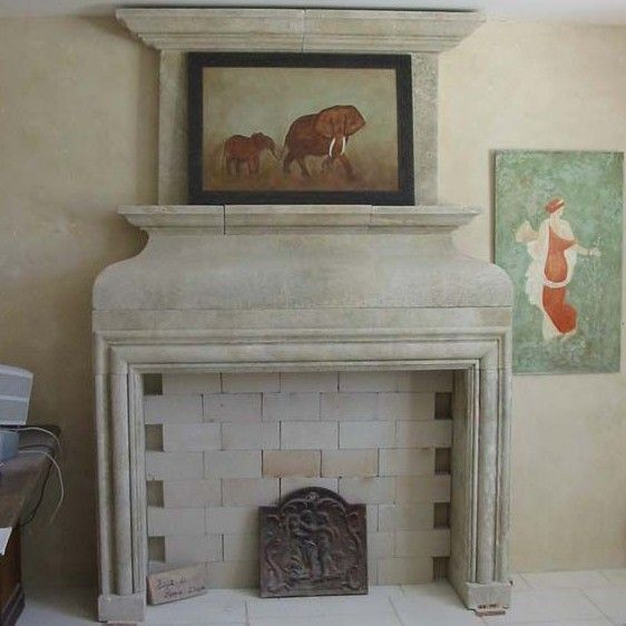 Louis XIII stone fireplace : a superb fireplace for decoration purpose.