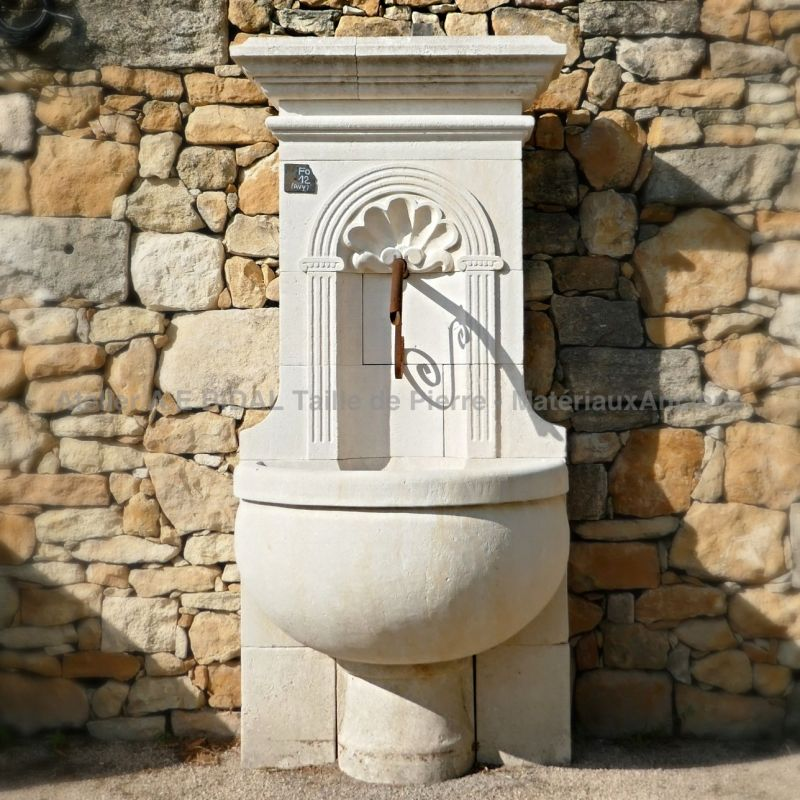 Wall fountain in Avy stone, a lovely element for garden decoration !