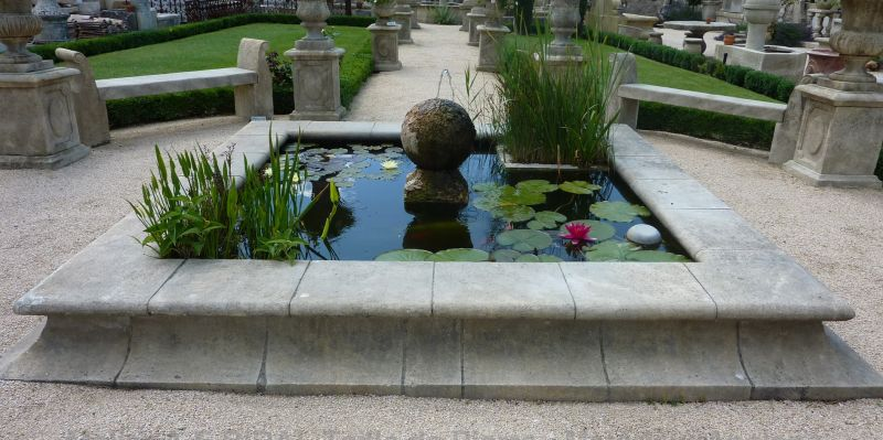 Usefull garden pond - by stone mason A E Bidal in Vaucluse