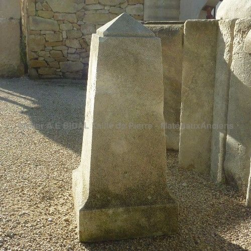 Stone marker - carving of a natural stone