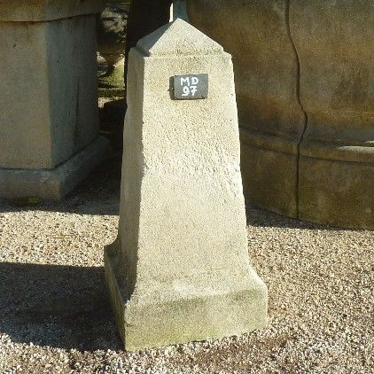 Stone marker on a square base, a very unique craftmanship