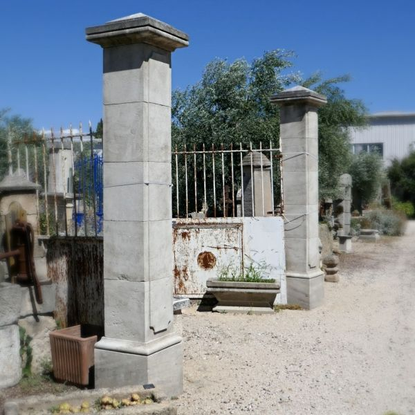 Limestone gateposts - an architectural element carefully crafted by our stonemason.