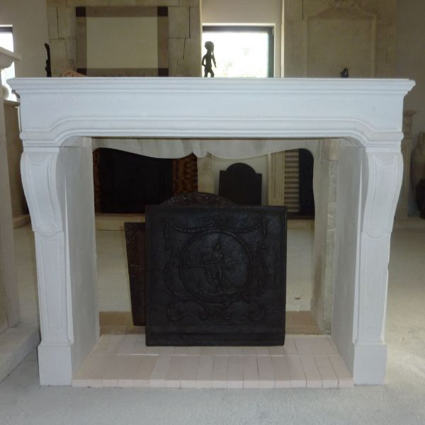 New edition of a Louis XVI style fireplace that has been carved in Lens stone