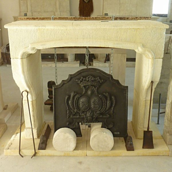 Louis XIV style fireplace made in Alain Bidal's workshop in Provence.