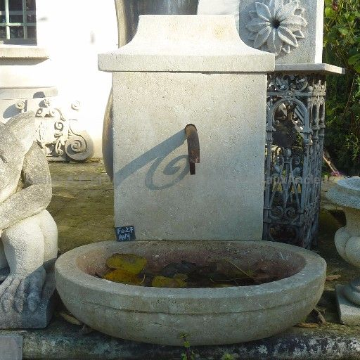 Rustic style garden fountain - a lovely stone basin