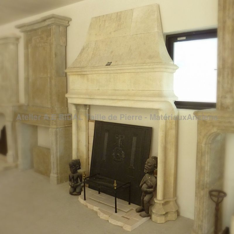 Gothic fireplace, a beautiful ancient but yet modern stone firepalce.