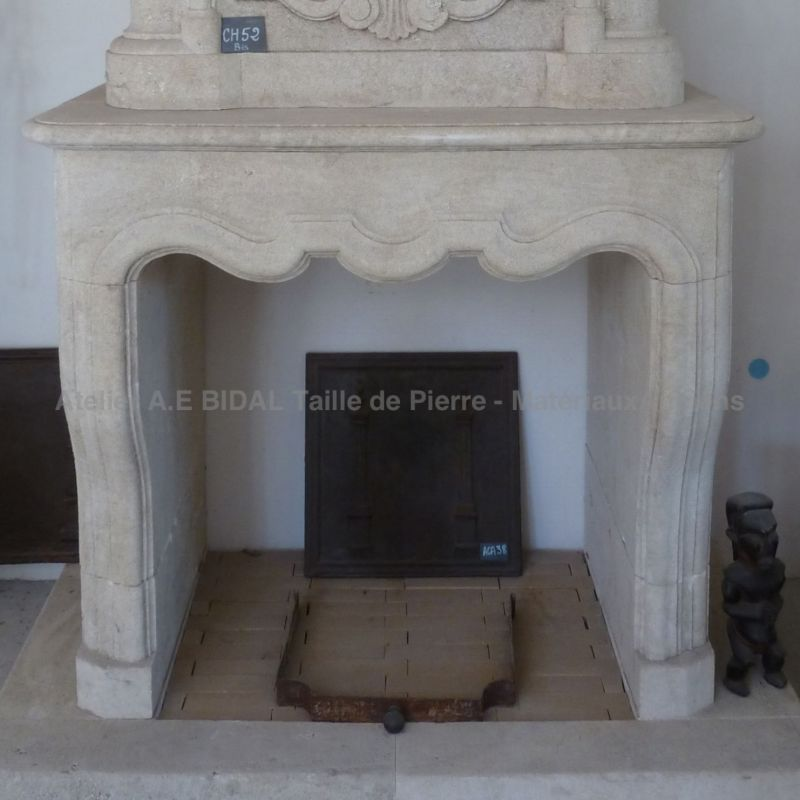 fireplace for insert from Provence, made by Stone mason AE Bidal
