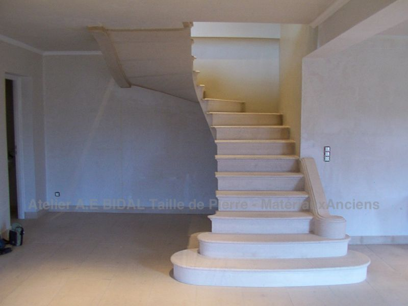 gorgeous staircase in stone for a lovely design in the house