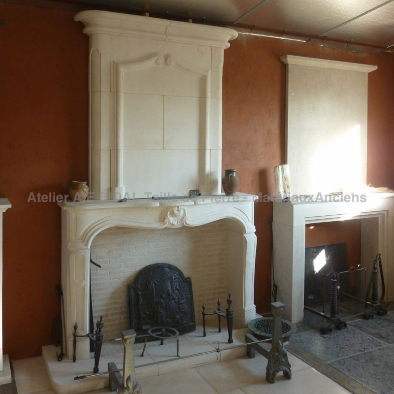To find a craftmen for a regency style fireplace in Provence, it is possible !