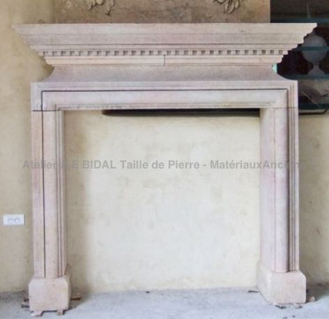 fireplace for insert  inspired by Louis XIII