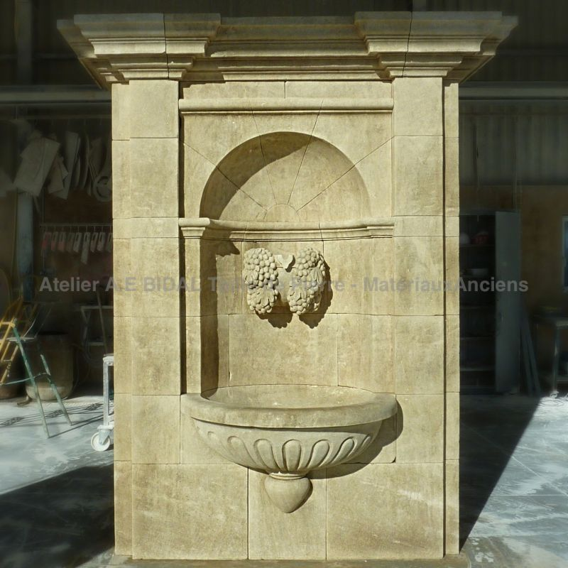 Stone fountain for decoration in stone of outdoor space