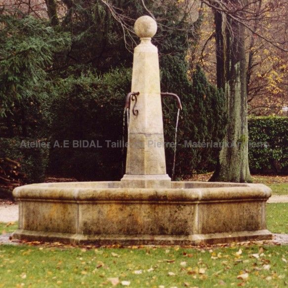 Large garden fountain - a traditional design element