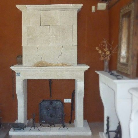 Provence style fireplace made in Provence in natural stone