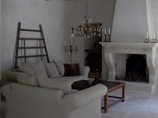 Provencal-style fireplaces in stone