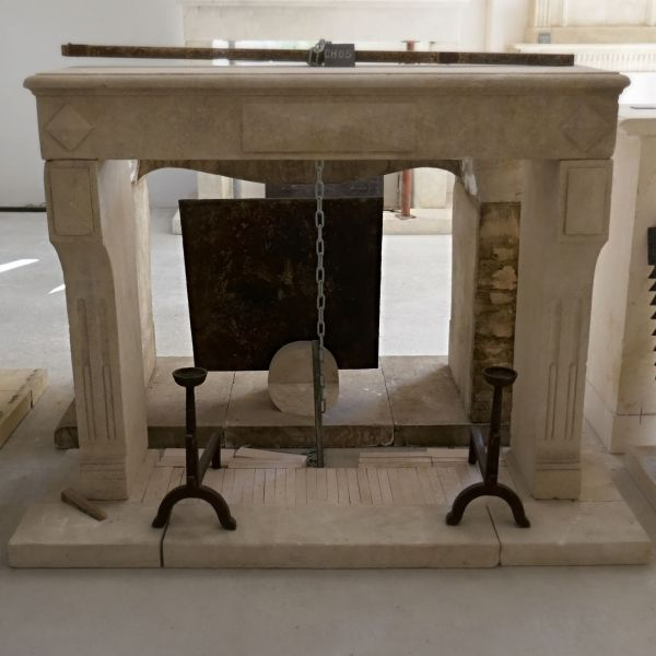 Decoration fireplace : the  Louis XVI Fireplace ( Bidal Workshop)