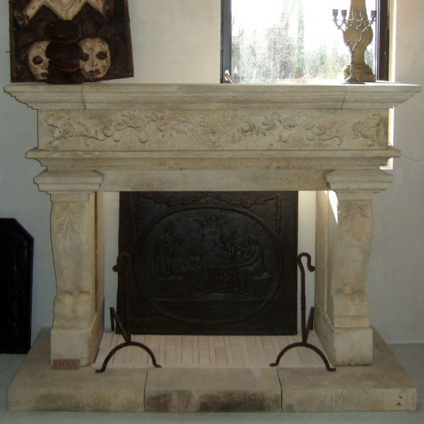 fireplace in stone style Renaissance ( New edition )