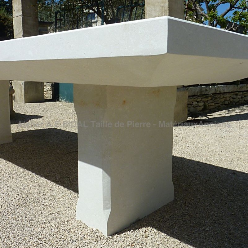 Beautiful stone table - accurate and flawless stone carving for a quality design furniture.