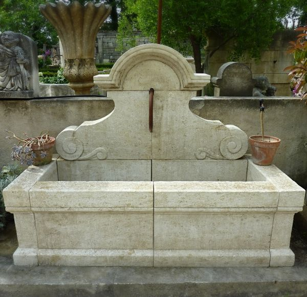 Large garden fountain of a really Provencal style | Water fountain hand crafted in quality limestone.