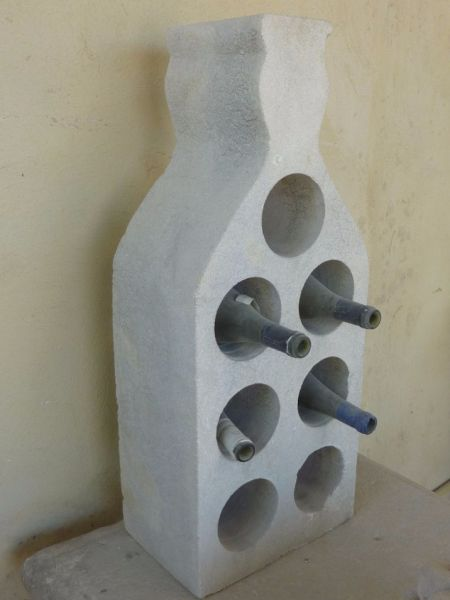 Original design in stone - Bottle holder by the Bidal workshop in Provence