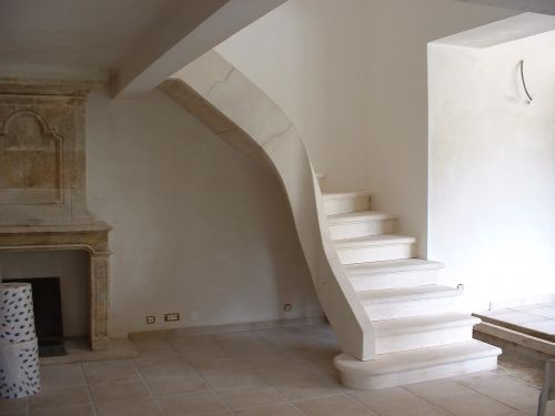 Indoor stair in stone - created by A E Bidal