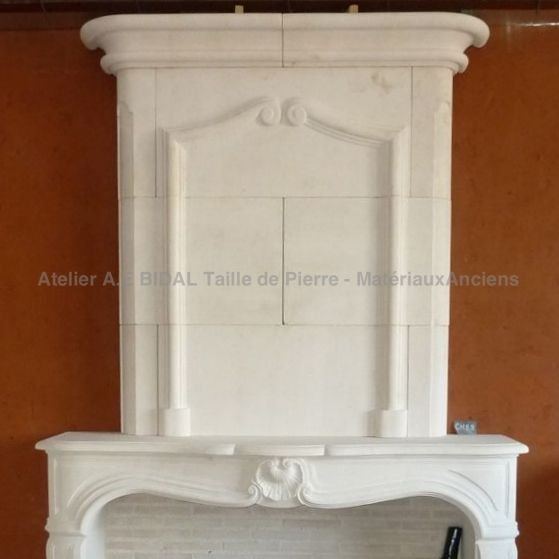 A French Regency style fireplace - a very special style.